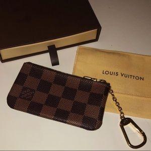 Louis Vuitton Checkered Wristlet/ card holder